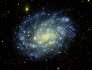 Composite image of galaxy NGC 300